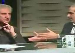 Shah Mehmood Qureshi Refused To Shake Hand With Khawaja Saad Rafique in Live Show