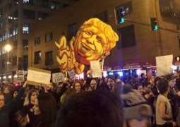 Thousands protest outside Trump Tower