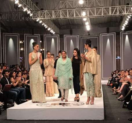 Mukhtaran Mai walks the ramp awaking awareness for abondaned women