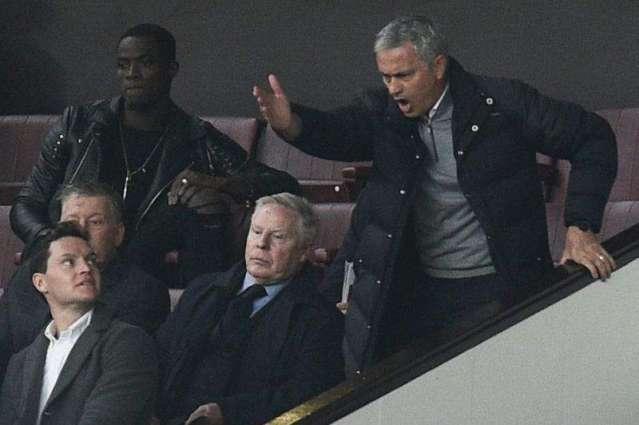 Football: Mourinho gets one-match touchline ban, fine