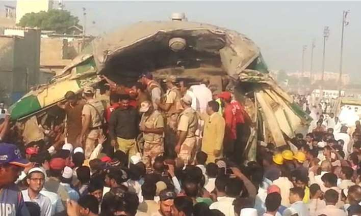 Two passengers train collided between Landhi-Jumma Goth stations