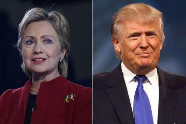 US presidential race tightens, Clinton still ahead