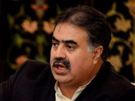 سر وزیر بلوچستان نواب ثناء اللہ خان زہریءِ گوں صوبائی وزیر صنعت منظور حسین وسانءِ گند ءُُ نند