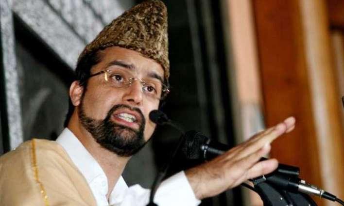Mirwaiz condemns forces for declaring war on IoK people