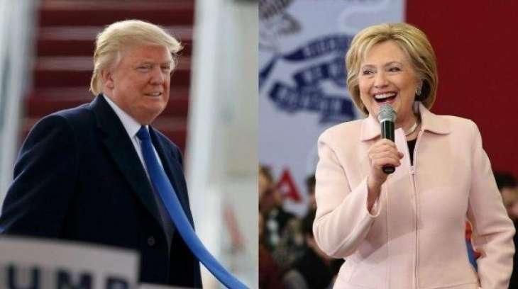 Race narrowing as Clinton, Trump push into final weekend