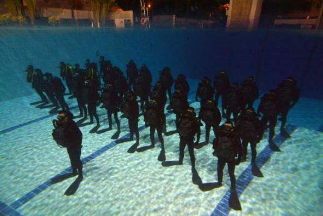 Passing out ceremony of SCUBA diving course