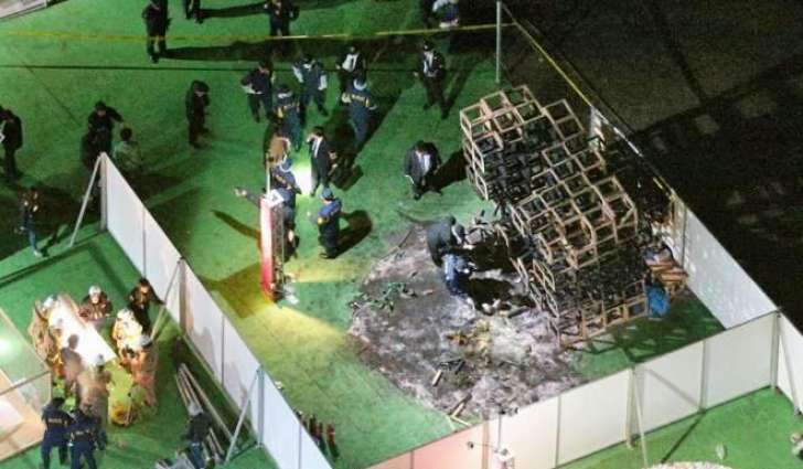 Boy killed in freak fire at Tokyo art event