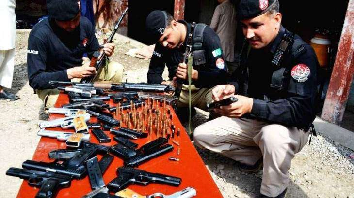 38 held with drugs, illegal weapons