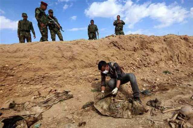 Iraq forces find mass grave in area recaptured from IS