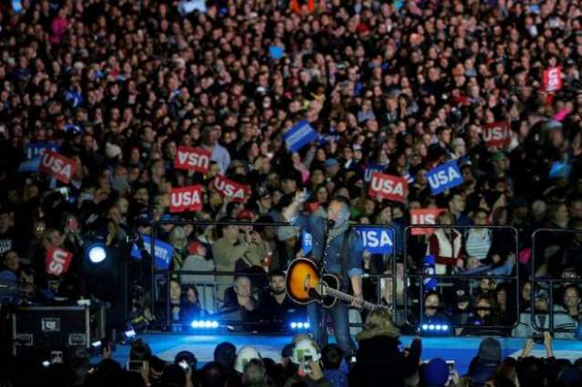 About 40,000 people at Clinton-Obama rally: campaign