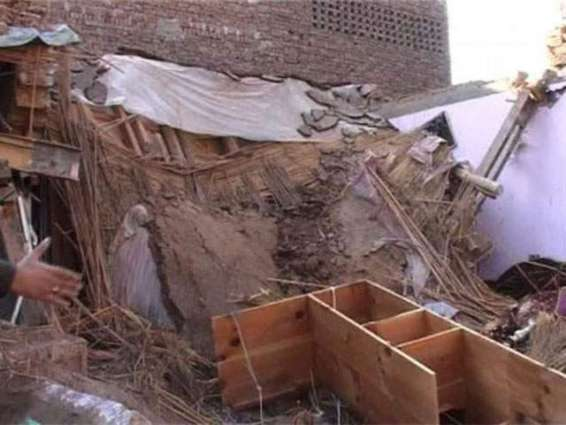 Three minor sister killed in roof collapse