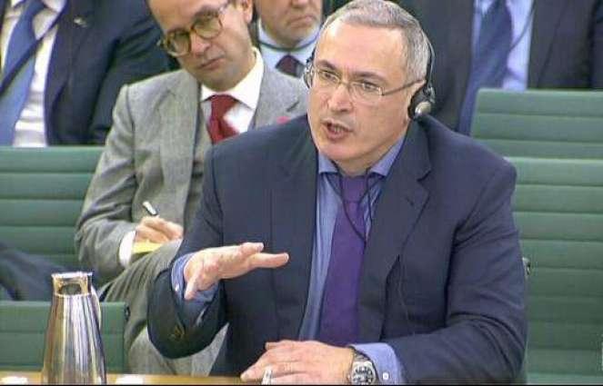 Khodorkovsky urges UK to sanction Russian elites