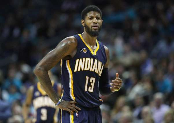 Pacers forward George fined $15K for kicking ball into crowd