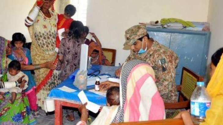 1228 patients provided treatment in a free medical camp near Mithi