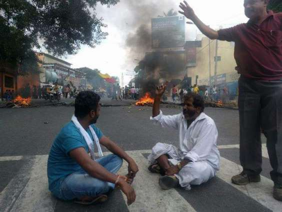 Protestors block road against removal of woman's kidney