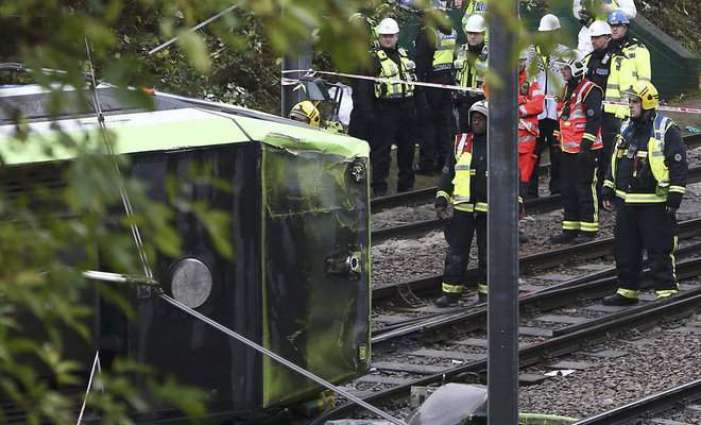 Seven killed as London tram comes off the rails