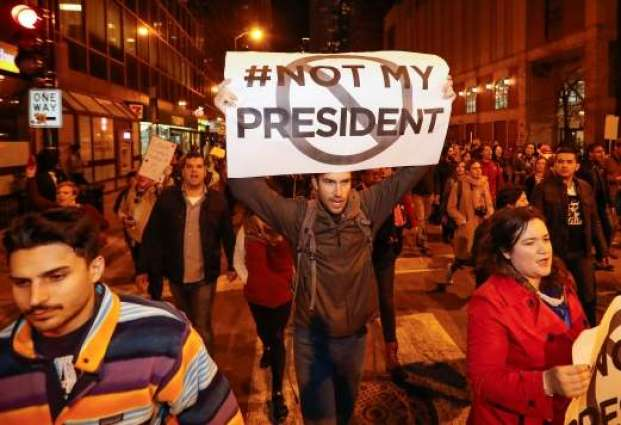 Trump election win sparks protests across US