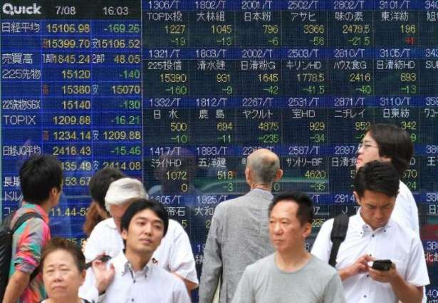 Tokyo's benchmark stock index closes up 6.72% in global rally