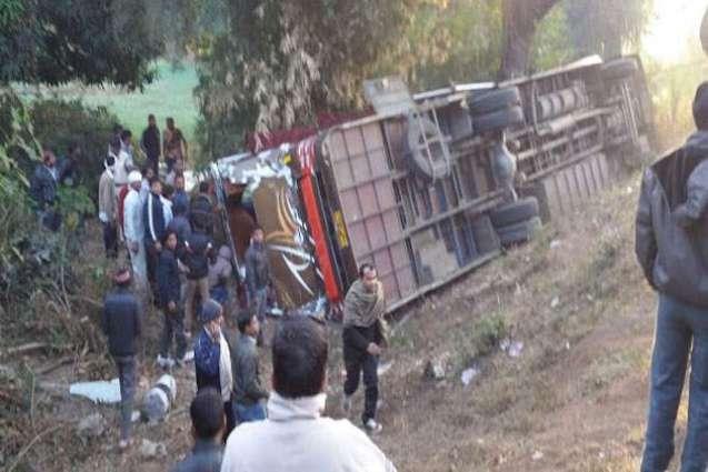 جہلم ، مسافر بس کھڈے اچ ڈھونڑ نال 24 بندے ودھ زخمی ،3 دی حالت تشویشناک