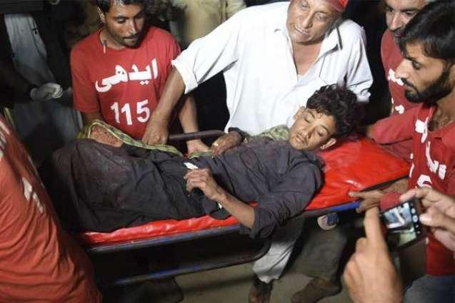 At least 15 injured of Shah Noorani shrine blast shifted to Karachi