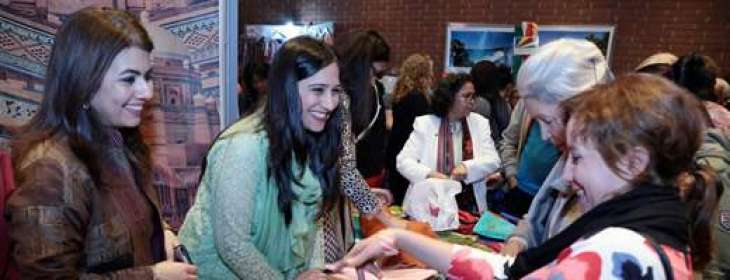 Pakistani stall at Commonwealth fair attracts people