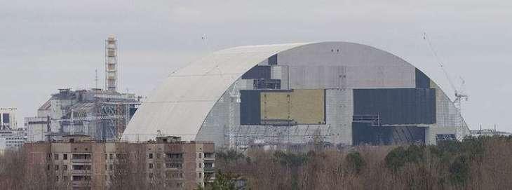 Giant safety arch begins sliding over Chernobyl