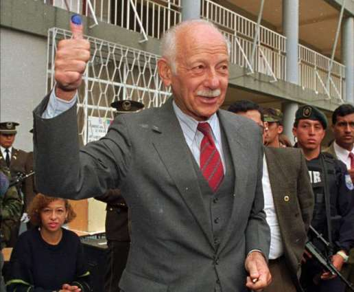 Ecuador's ex-president Duran Ballen dies