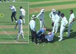 ممبئی ٹیسٹ: آسٹریلیوی امپائر پال رائفل گیند وَجن نال زخمی