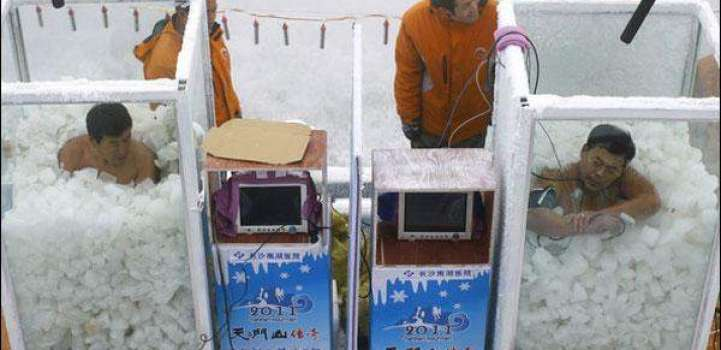 A blood freezing contest held in Chinese province Hunan, one of t ..