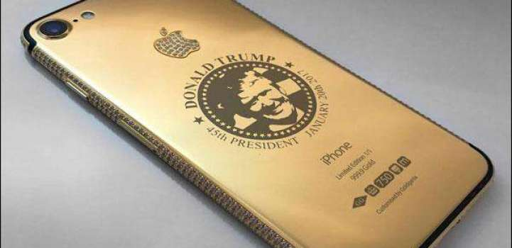 here comes gold Iphone 7 attributed to the new US president Donal ..