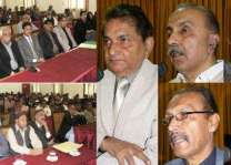 Condolence meeting held at Information Office Larkana