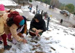 Tourists rush increased after snow in Murree