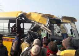 School bus accident in India, 24 children dead