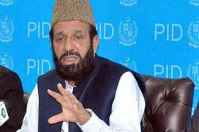 وفاقی وزیر مذہبی امور سردار محمد یوسف نال یورپین پارلیمنٹ دے رکن راجہ محمد افضل دی ملاقات