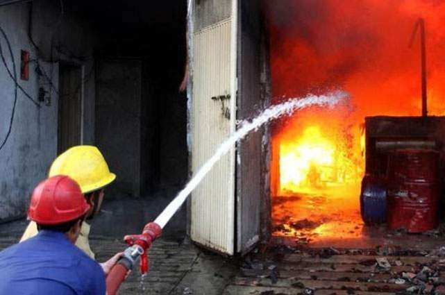 Five persons injured in fire incident