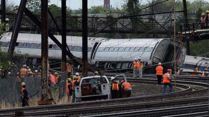 نیویارک ، ریل گاڈی پٹری توں لہہ گی100 بندے زخمی
