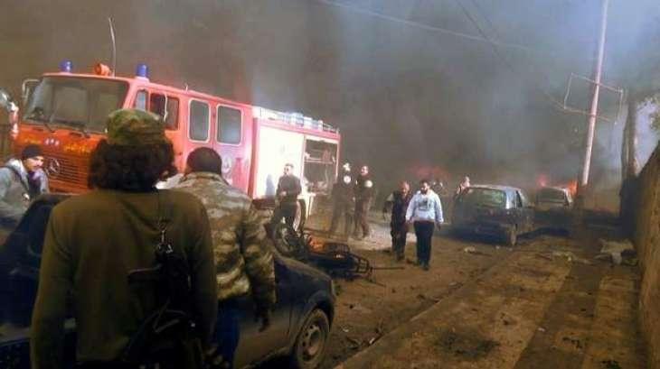 Tanker bomb kills at least 43 in Syria's Azaz: monitor
