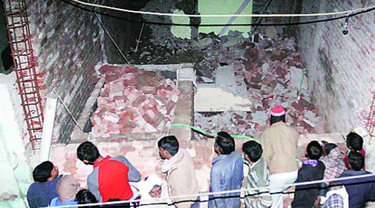 Two labourers killed as school wall collapses