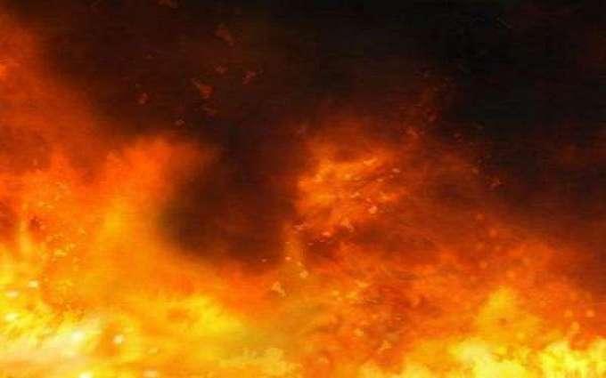 Seven workers burnt alive