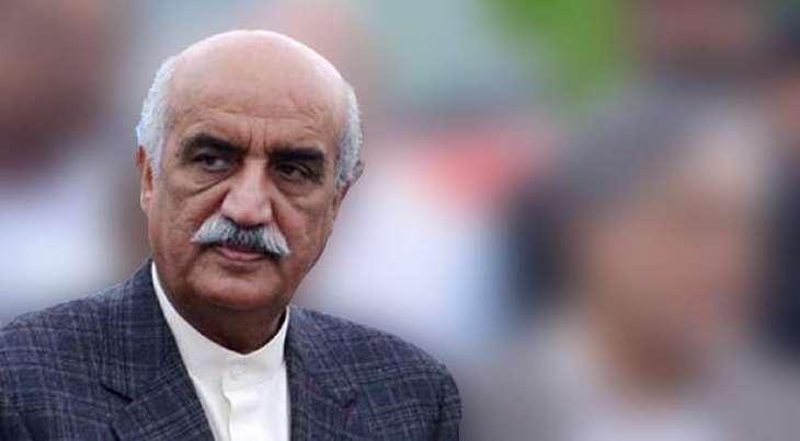Khursheed Shah felicitates newly elected NPC office bearers