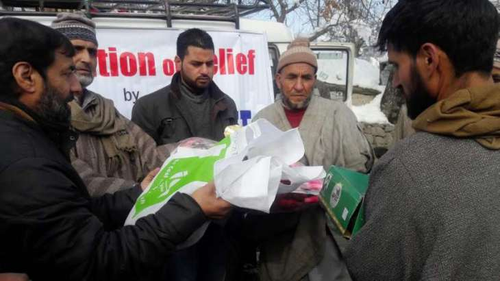Milli Trust distributes relief among Handwara fire victims