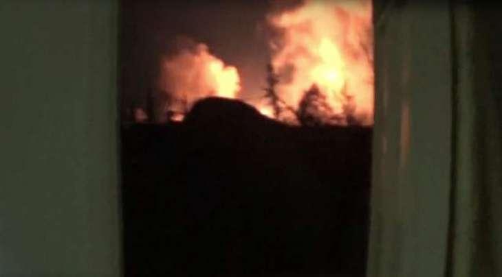 شام دے فوجی اڈے اُتے اسرائیل ولوں راکٹاں نال حملا، ہوائی اڈے اُتے اگ لگ گئی
