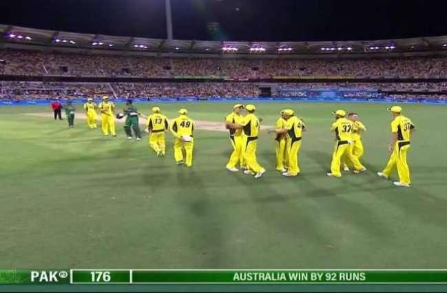 پہلا ون ڈے: آسٹریلیا نے پاکستان نوں 92سکور توں ہرا دِتا