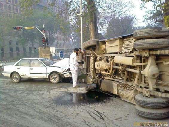 إصابة 25 شخصا في حادث مرور بإقليم البنجاب الباكستاني