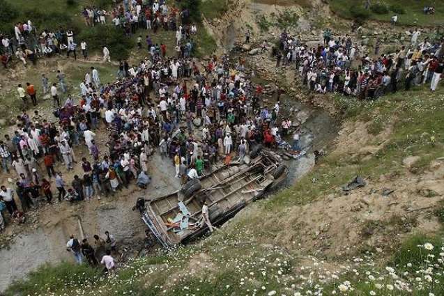 Six killed, one injured as car falls into gorge in AJK