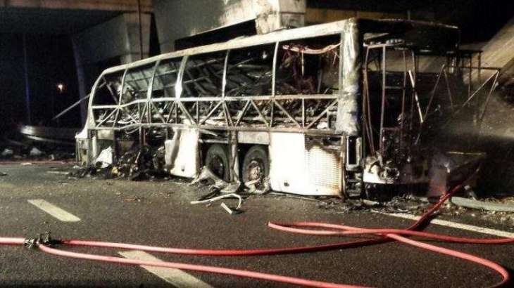 Hungarian school coach crashes in Italy, 16 dead