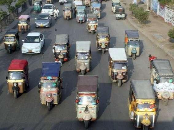 Rickshaw drivers hold protest