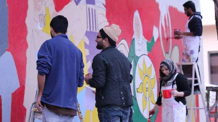 Wall painting by renowned cartoonist inaugurated at Lok Virsa