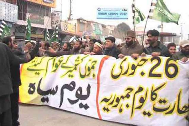 Kashmiris to observe Indian Republic Day as Black Day on Thursday