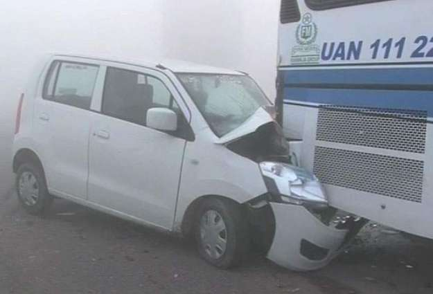17 injured in fog-related accidents